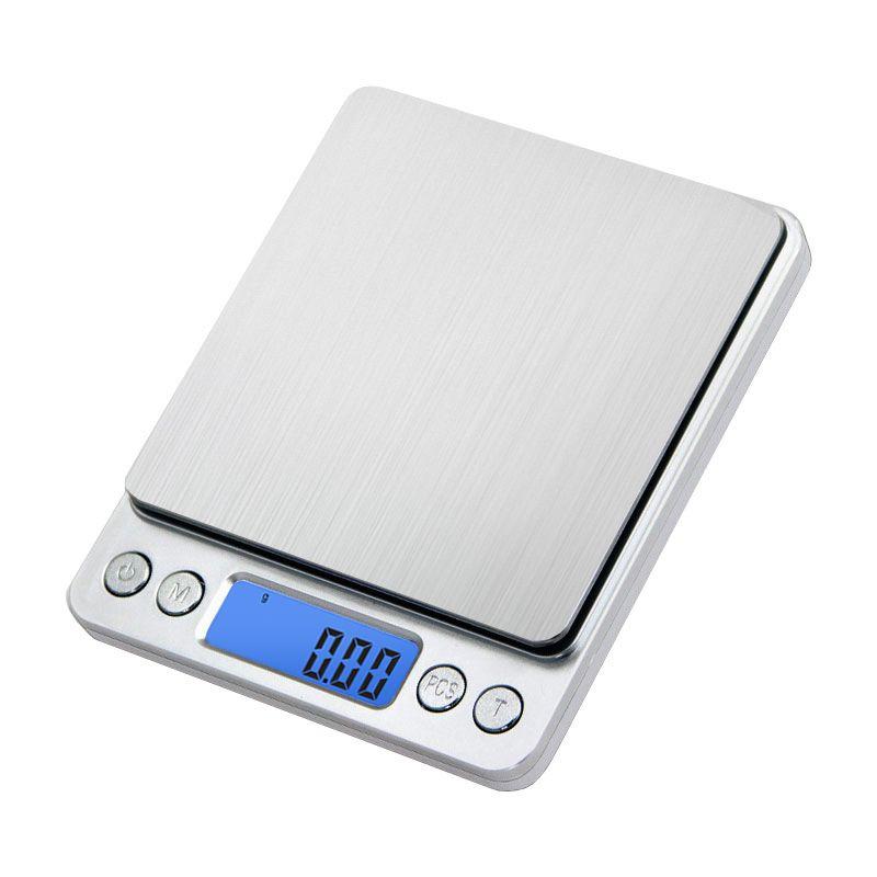 Portable Mini électronique balances alimentaires poche Case postale cuisine bijoux poids balance numérique avec 2 plateau 500g x 0.01g