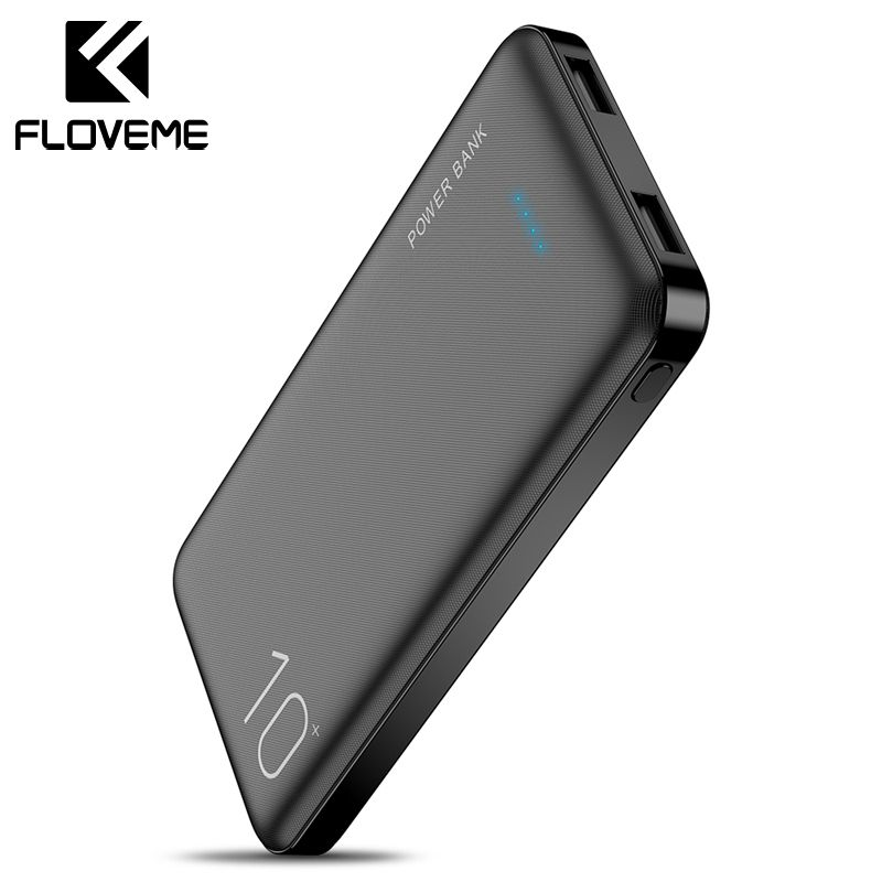 FLOVEME 10000mAh Power Bank Powerbank External Battery Pack Portable Charger Mi Powerbank Poverbank Power Bank For iPhone Xiaomi