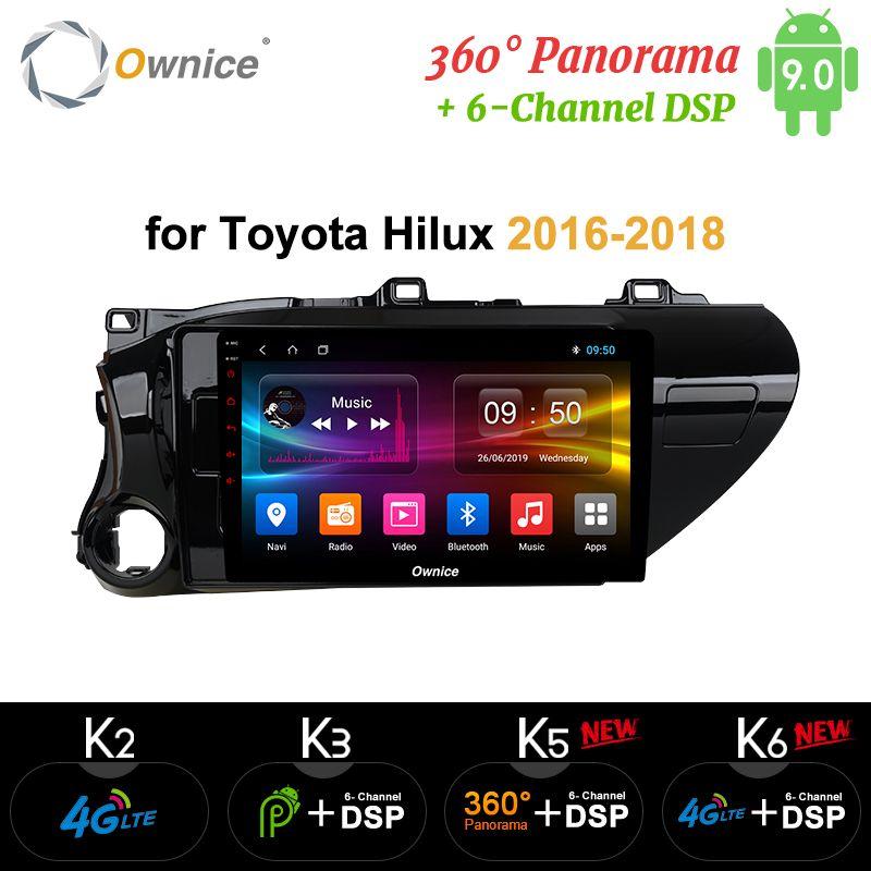 Ownice K1 K2 Android 9.0 auto radio 2 din für Toyota Hilux 2016-2018 auto DVD auf-board computer navigation GPS AUDIO kopf einheit