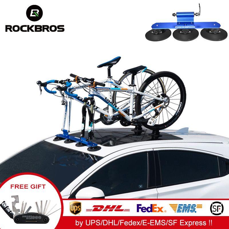 ROCKBROS Fahrrad Rack Dach-Top Saug Bike Auto Rack Träger Schnell Installation Sauger Dach Rack Für MTB Mountainbike rennrad