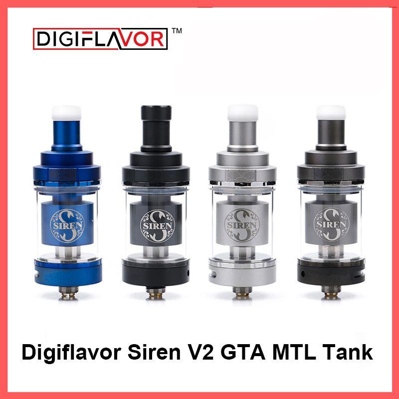 Digiflavor Siren V2 GTA MTL Tank 24 Version 4.5ml Genisis Tank Atomize  24mm update siren 25 DF siren 2 atomizer