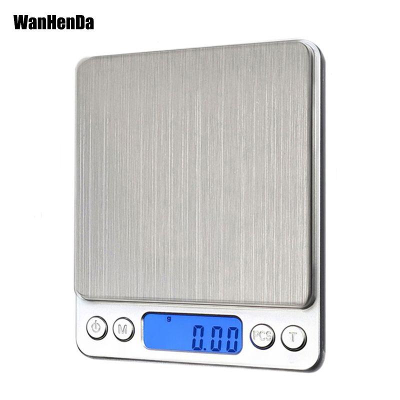 Nouveau 500/0. 01g 3000g/0.1g LCD Portable Mini électronique numérique balances poche Case postale cuisine bijoux Balance de poids