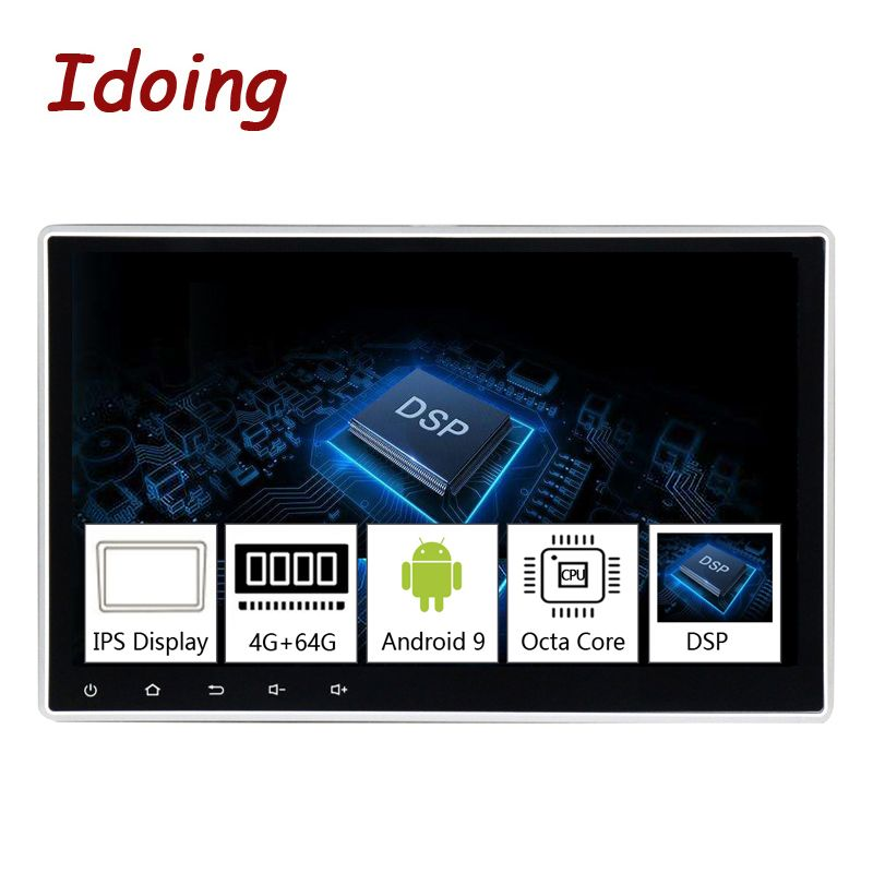Idid 1Din 10.2 PX5 4G + 64G Octa Core universel voiture GPS DSP lecteur Radio Android 9.0 IPS écran Navigation multimédia Bluetooth