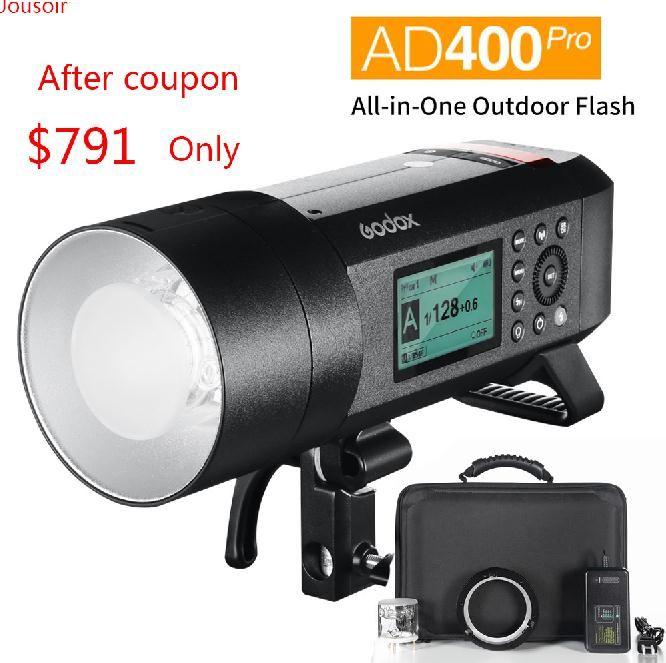Godox AD400 Pro WITSTRO Alle-in-Einem Outdoor-AD400Pro Li-on Batterie TTL HSS mit Eingebaute 2,4G Wireless X System CD50 T03Y
