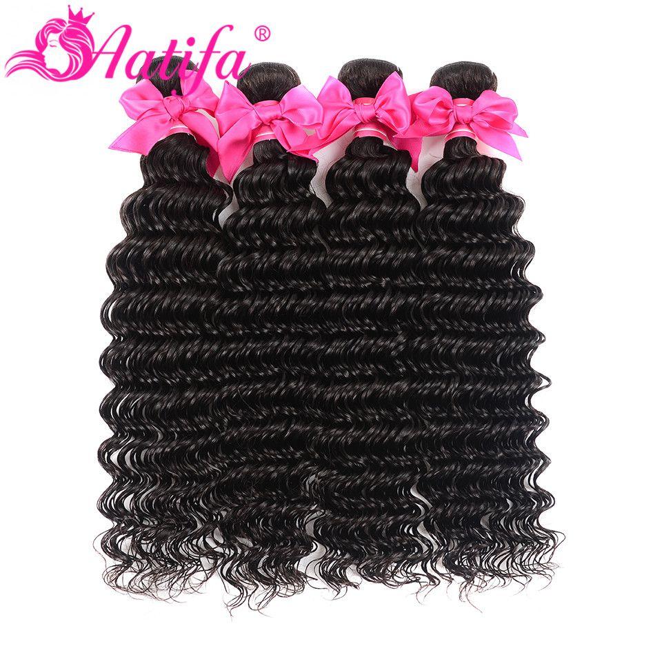 Cheveux malaisiens vague profonde paquets 1/3 ou 4 paquets de cheveux humains Remy armure de cheveux 10-28 pouces extension de cheveux couleur naturelle cheveux Aatifa