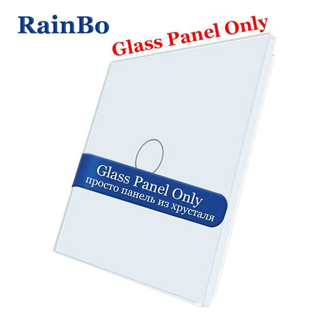 RainBo Not-Touch Switch-Luxury Crystal-Glass Touch-Switch-Panel 80mm*80mm EU Standard-Glass Panel-DIY-Acessories A191W/B1