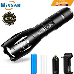 ZK60 Q250 TL360 LED Tactical Flashlight Torch Zoomable 8000LM 5 Mode Water Resistant Handheld Light 18650 AAA Best for Camping
