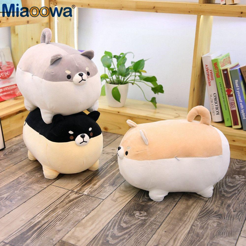Nouveau 40/50cm mignon Shiba Inu chien en peluche peluche doux Animal Corgi Chai oreiller cadeau de noël pour les enfants Kawaii Valentine présent