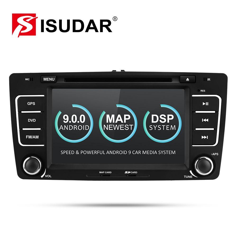 Isudar 2 Din Auto Radio Android 9 Für SKODA/Yeti/Octavia 2009 2010 2012 Quad Core RAM 2G auto Multimedia Video DVD Player GPS DVR
