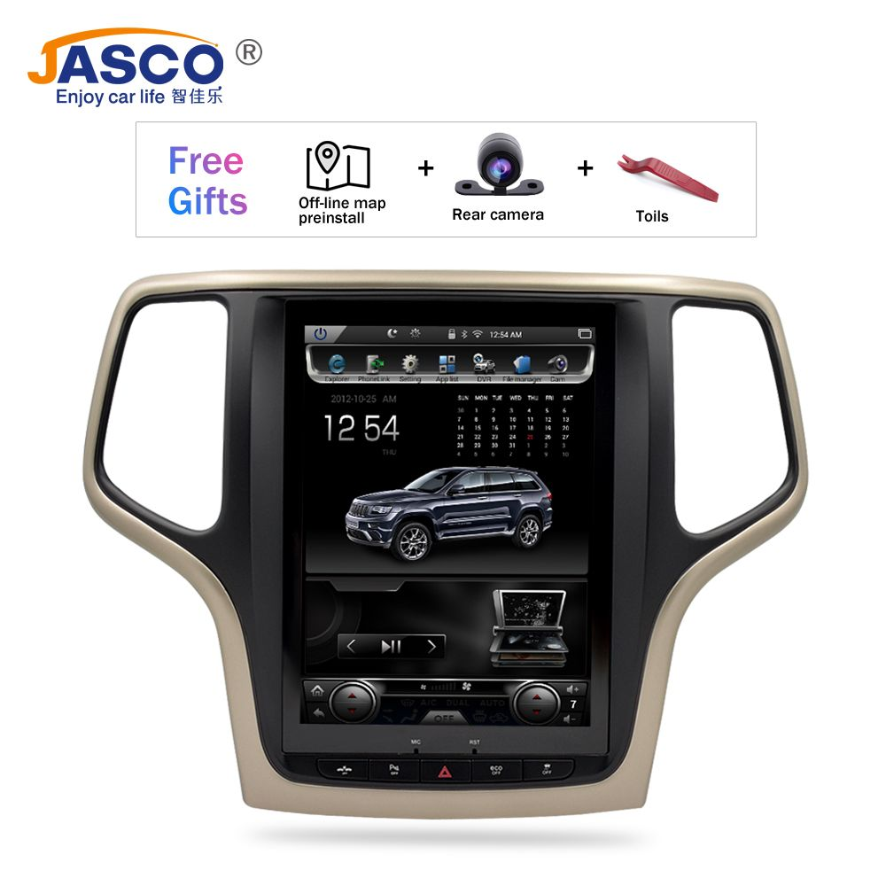 10,4 Vertikale Bildschirm Android 7.1 Auto DVD GPS Glonass Navigation Radio Player für Jeep Grand Cherokee 2013-2016 RAM 2GB 32G Stereo