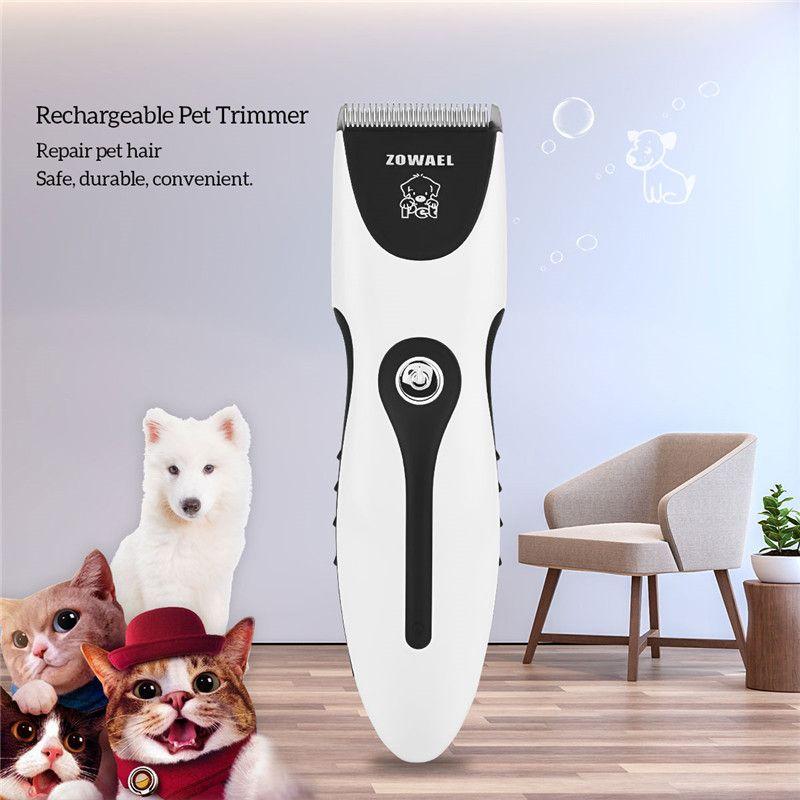 Rechargeable chat chien cheveux tondeuse électrique pour animaux de compagnie cheveux tondeuse coupeur chien toilettage animal de compagnie produit coupe de cheveux Machine RCS06Q 37