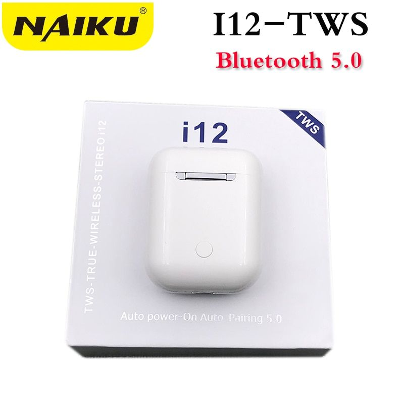 Drop shipping i12 TWS Bluetooth 5.0 Earphone Double Calls Smart Touch Earphones For iPhone Pk I9s I7s I10 Earbuds Headphone