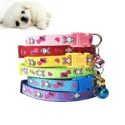 Pet Dog Collar PU Leather Solid Soft Colorful  for Small Medium Large Dogs Neck Strap Adjustable Safe Puppy Kitten Cats Collar