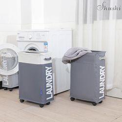 Cesta de lavandería plegable de alta resistencia SHUSHI bolso oxford Delgado organizador de rodillo de lavandería bolsa de lavandería simple plegable para el hogar