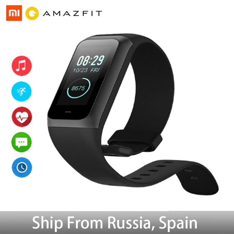 Amazfit Band Cor 2 Smart watch 5ATM Waterproof 2.5D Color Stainless Steel Frame For Android IOS Huami smartwatch Bracelet