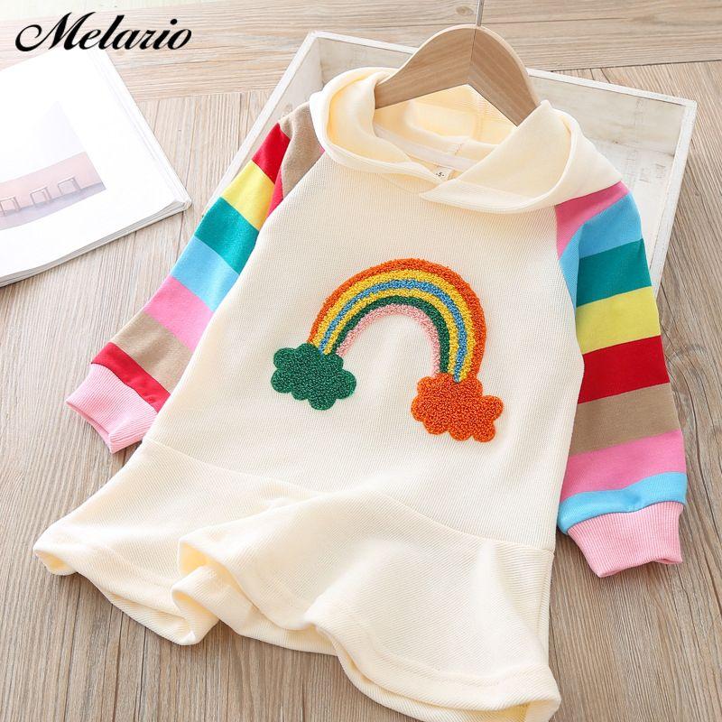 Décontracté bébé filles robes filles mignonnes blanc T-Shirt rose robe avec fleur robe costume mignon enfants vêtements automne enfants vêtements