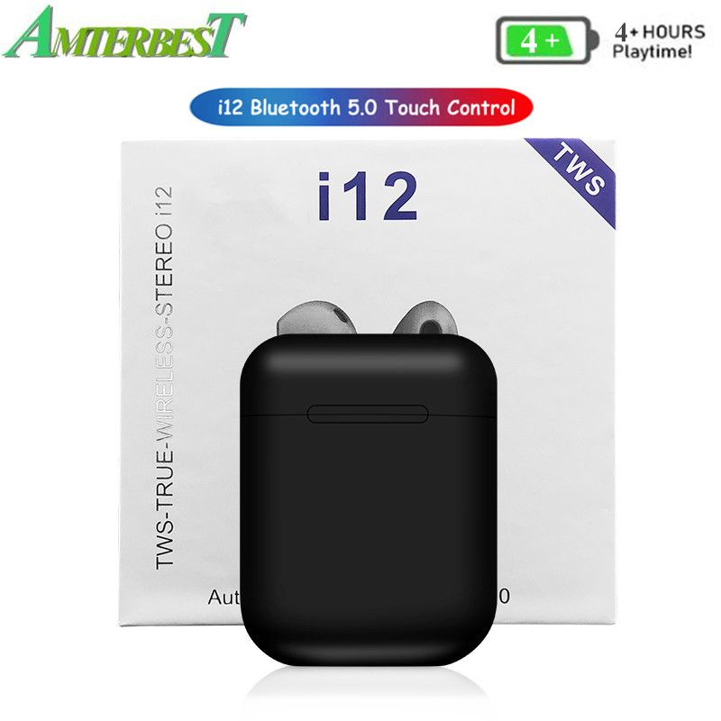 AMTERBEST Bluetooth headset with Charger Box for IOS Android Smrtphones