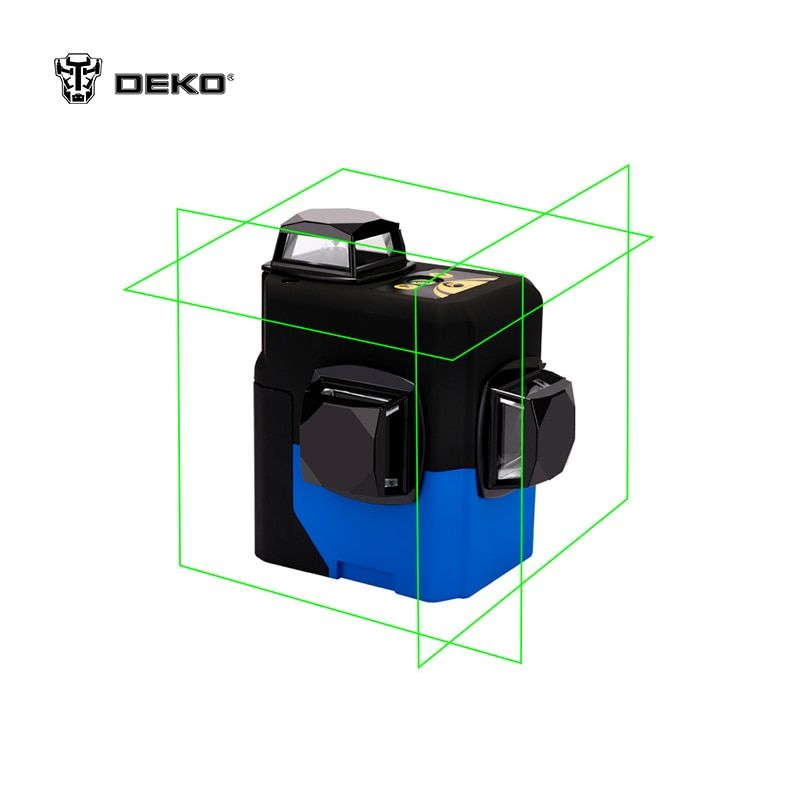 Laser ebene DEKO HV-LL12B Entfernungsmesser 3D (12 linien grün) 360 vertikale und horizontale selbst nivellierung