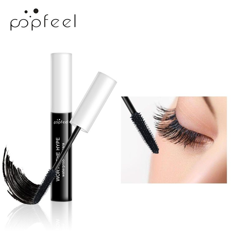 POPFEEL 3D fibre de soie allongement rapide sec Mascara imperméable durable Extension épaisse noir cils Extension naturelle Mascara