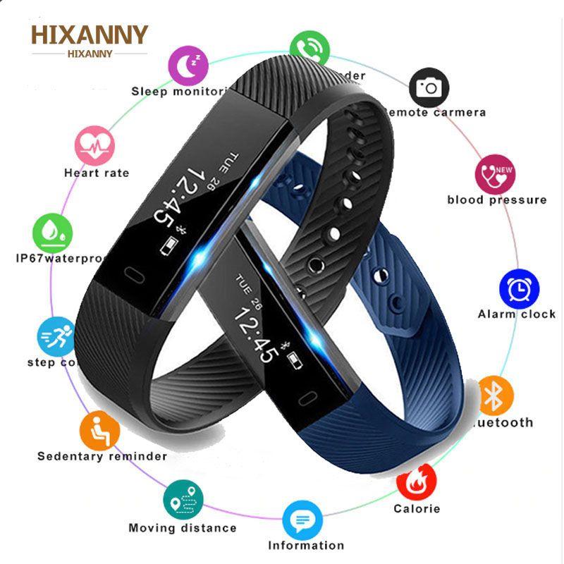 Smart Bluetooth Connected Pedometer Fitness Tracker Fit For Women Men Kids Watch Sleep Bracelet Wristband Bit Fitness Smartband