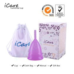 iCare Hot sale Medical Grade Silicone Menstrual Cup FDA For Woman Feminine Hygiene Menstruation reusable lady cup copa menstrual