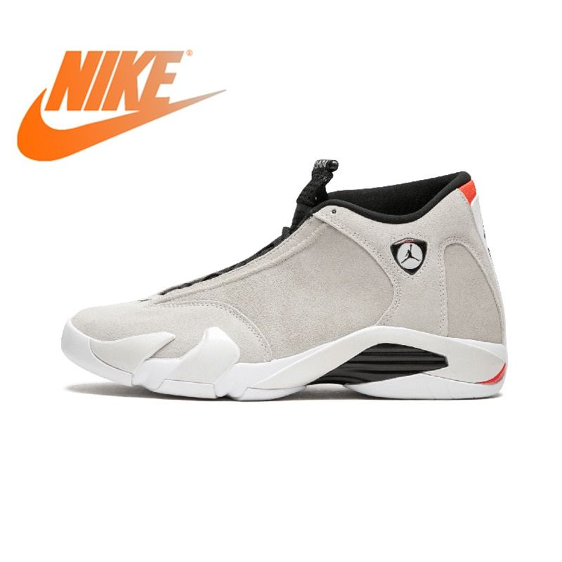 Original Authentischen NIKE Air Jordan 14 Retro herren Basketball Schuhe Sport Outdoor Sneakers Medium Cut Lace-Up Gute qualität 487471