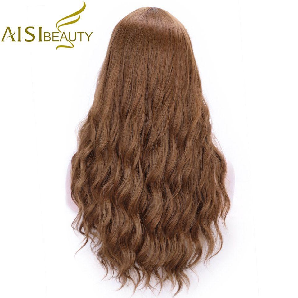 AISI beauté synthétique longues perruques ondulées pour les femmes brun gris noir résistant à la chaleur naturel Cosplay mignon Lolita