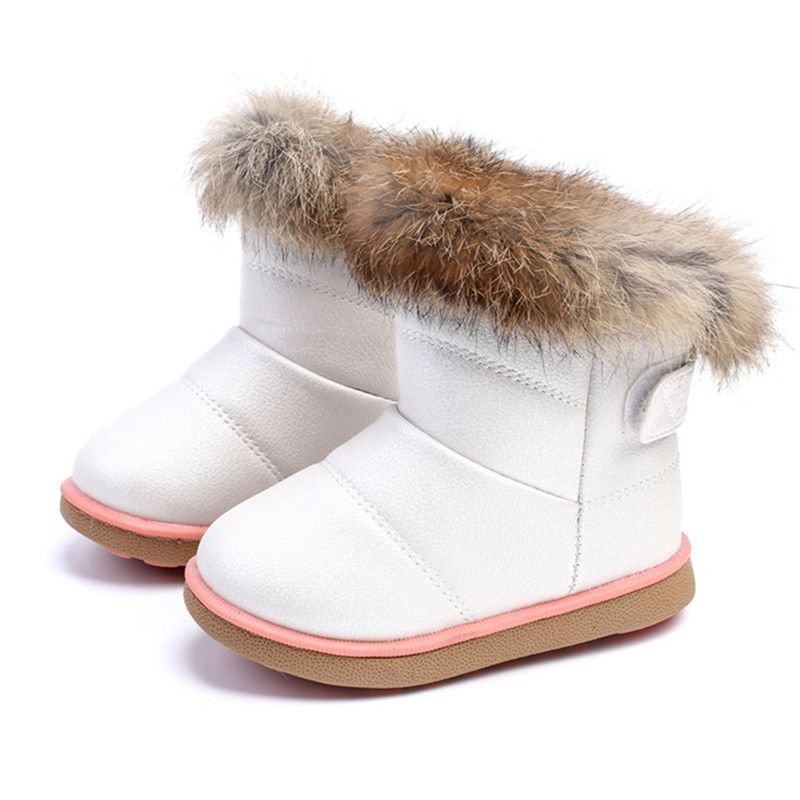 Comfy Kids Snow Boots Child Shoes For Girls Snow Boots Shoes Rubber Sole Baby Girls Outdoor Cotton Shoes Plush Ankle Boots Girl