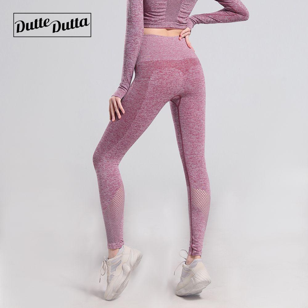 Pantalon de Yoga de gymnastique tenue de Sport pour les femmes contrôle du ventre taille haute Leggins collants de Sport femme Fitness Leggings sans couture vêtements de Sport