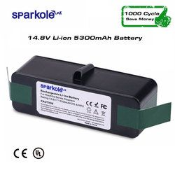 Sparkole 5.3Ah 14,8 V ионно-литиевая Батарея для iRobot Roomba 500 600 700 800 серии 510 531 550 560 580 620 630 650 760 770 780 870 880