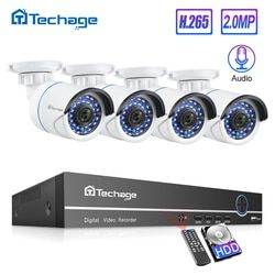 H.265 8CH 1080P POE NVR Kit CCTV System Up To 16CH NVR 2MP Audio IP Camera IR Outdoor P2P Onvif Video Security Surveillance Set
