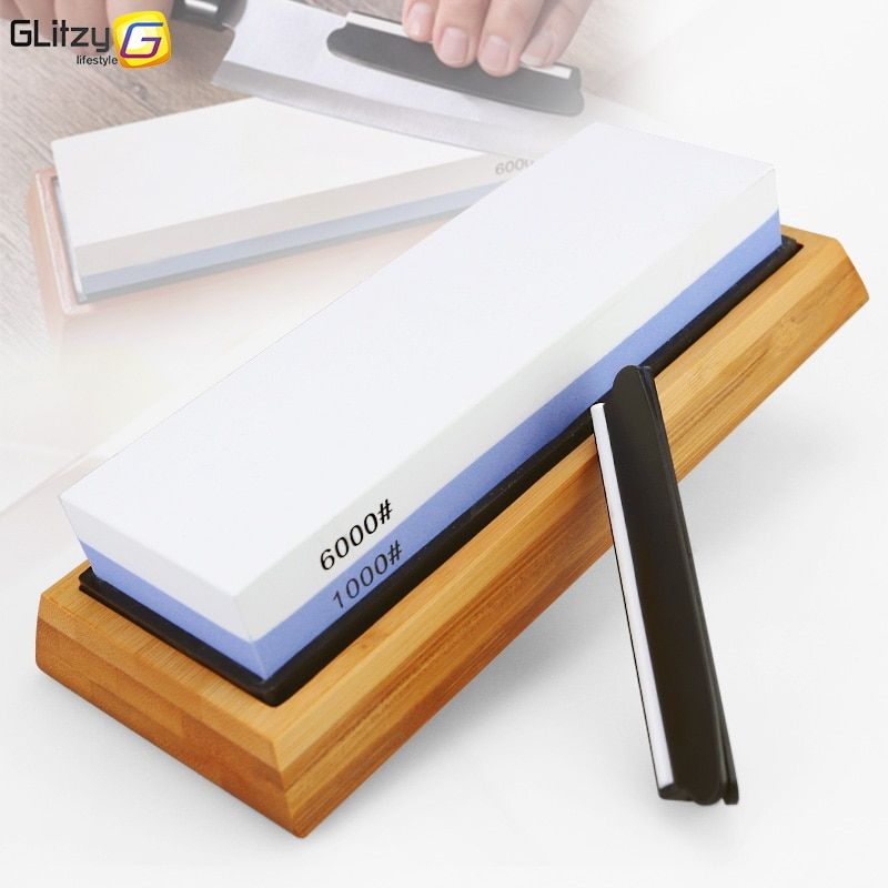 Knife Sharpener Stone Dual Side Whetstone Professional Kitchen Sharpening Grinder Oilstone 240 400 600 800 1000 6000# Honing Set