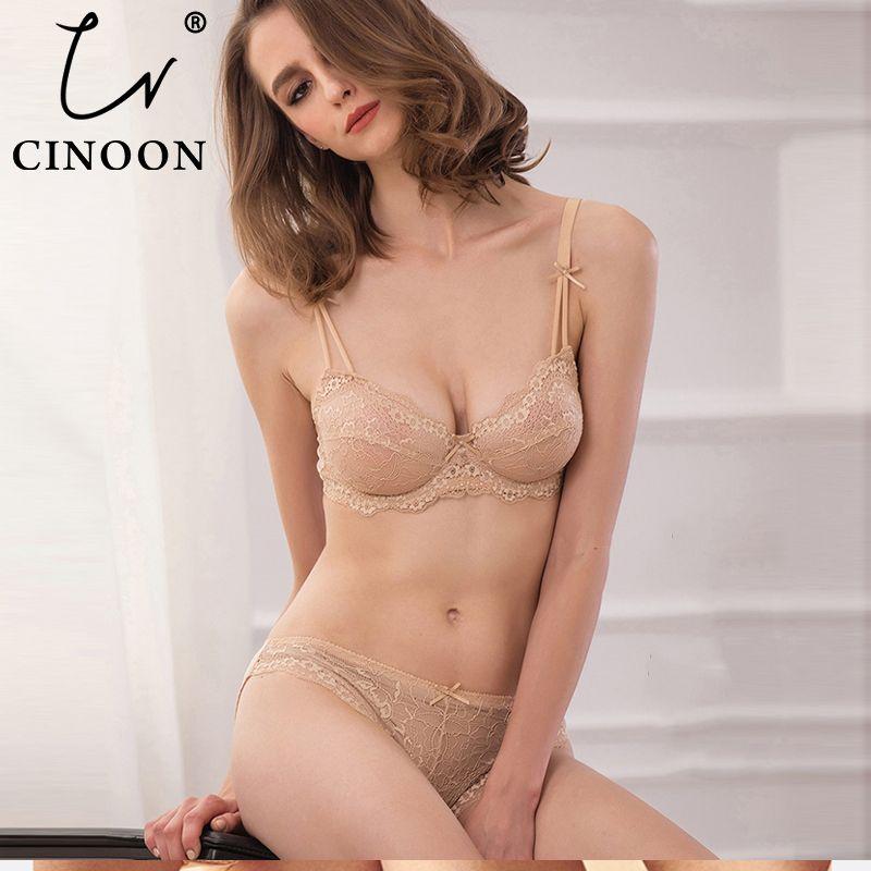 CINOON femmes sexy vs soutien-gorge ensemble sous-vêtements en dentelle réglable mince tasse lingerie ensemble grande taille femmes soutiens-gorge et ensemble de sous-vêtements