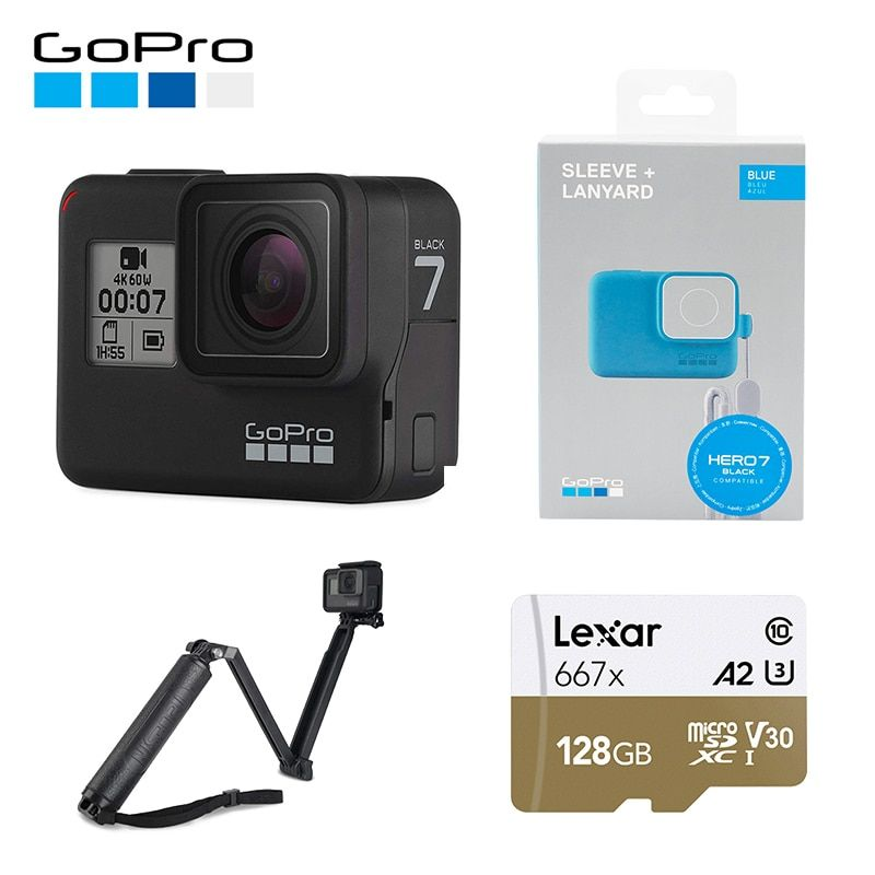 GoPro HERO7 Schwarz Wasserdichte Action Sport Kamera GoPro HERO 7 12MP Fotos Live-Streaming Stabilisierung