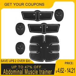 Abdominal Muscle trainer EMS Stimulation Power fit Vibration Plate Slim Body Massager Loss Arm Leg Muscle Stimulator Toning Gear