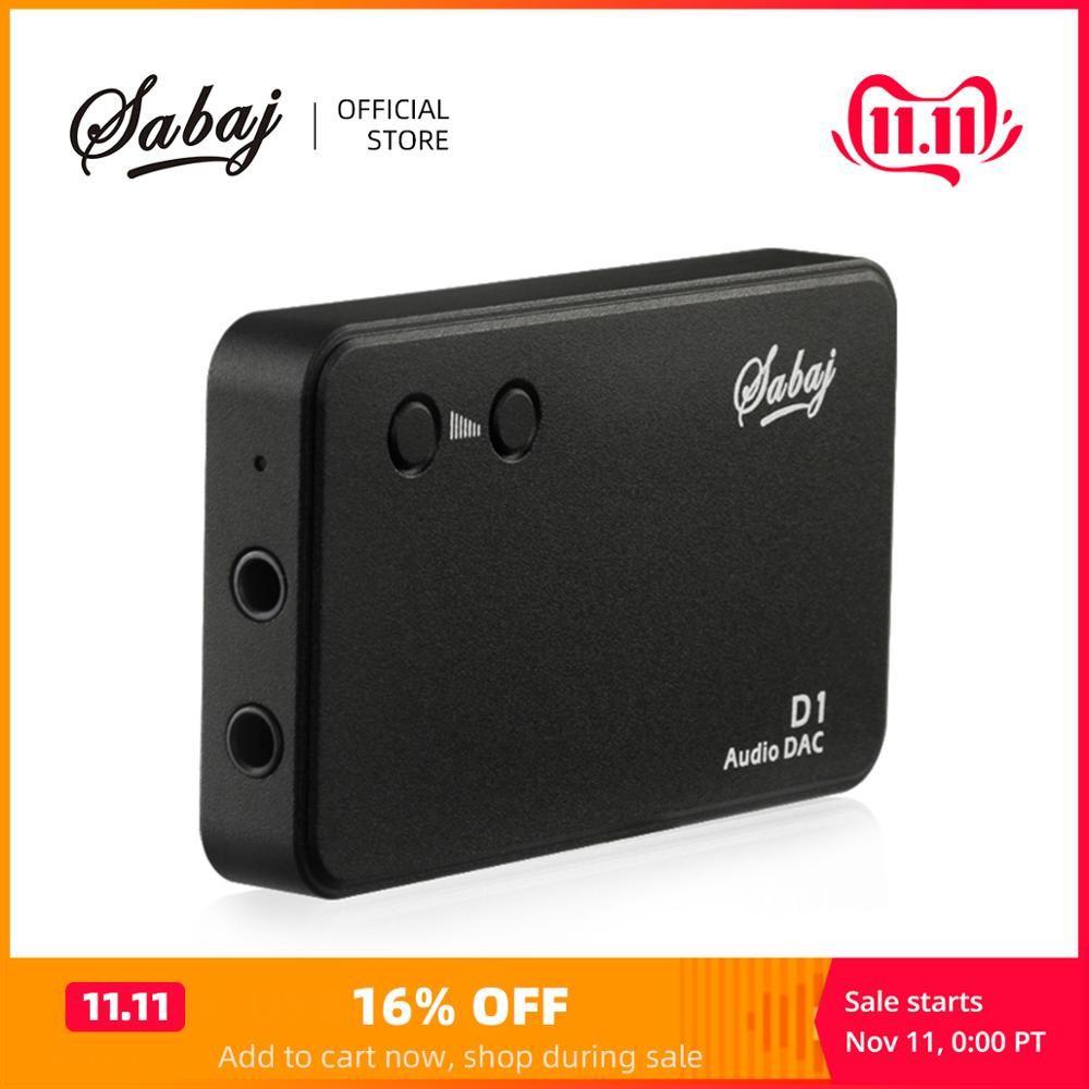 Décodeur amplificateur Audio Portable Sabaj D1 tout-en-un avec Mini amplificateur Audio DAC intégré noir argent