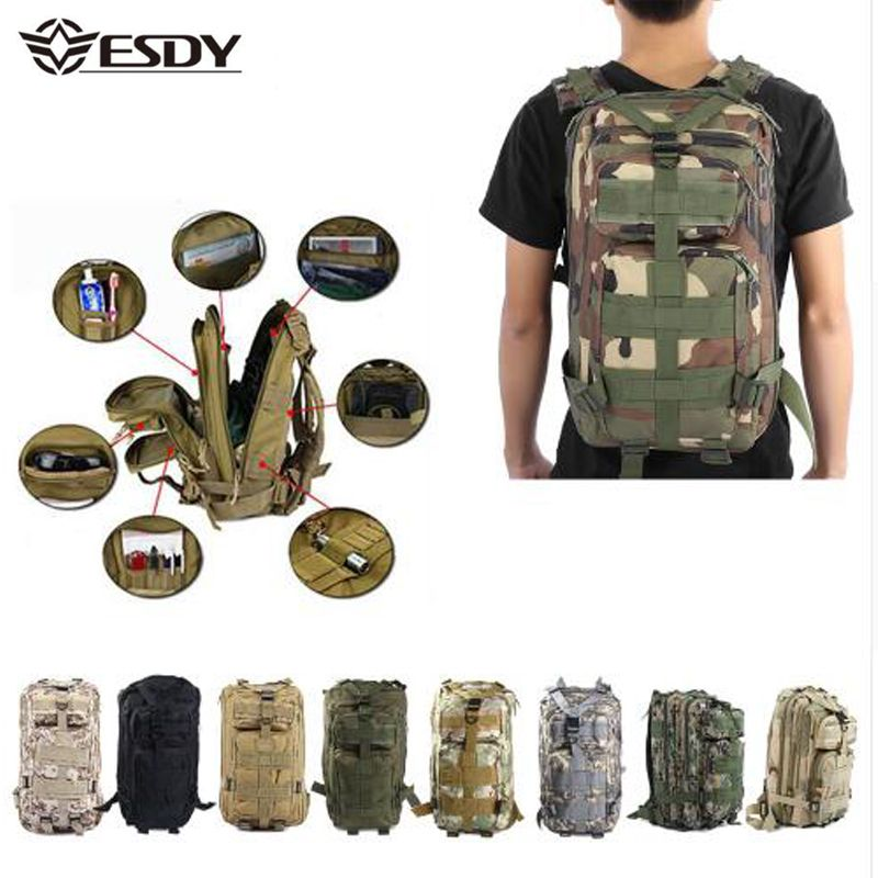 Hommes militaire tactique sac à dos 30L Camouflage en plein air Sport randonnée Camping chasse sacs femmes voyage Trekking sacs à dos sac