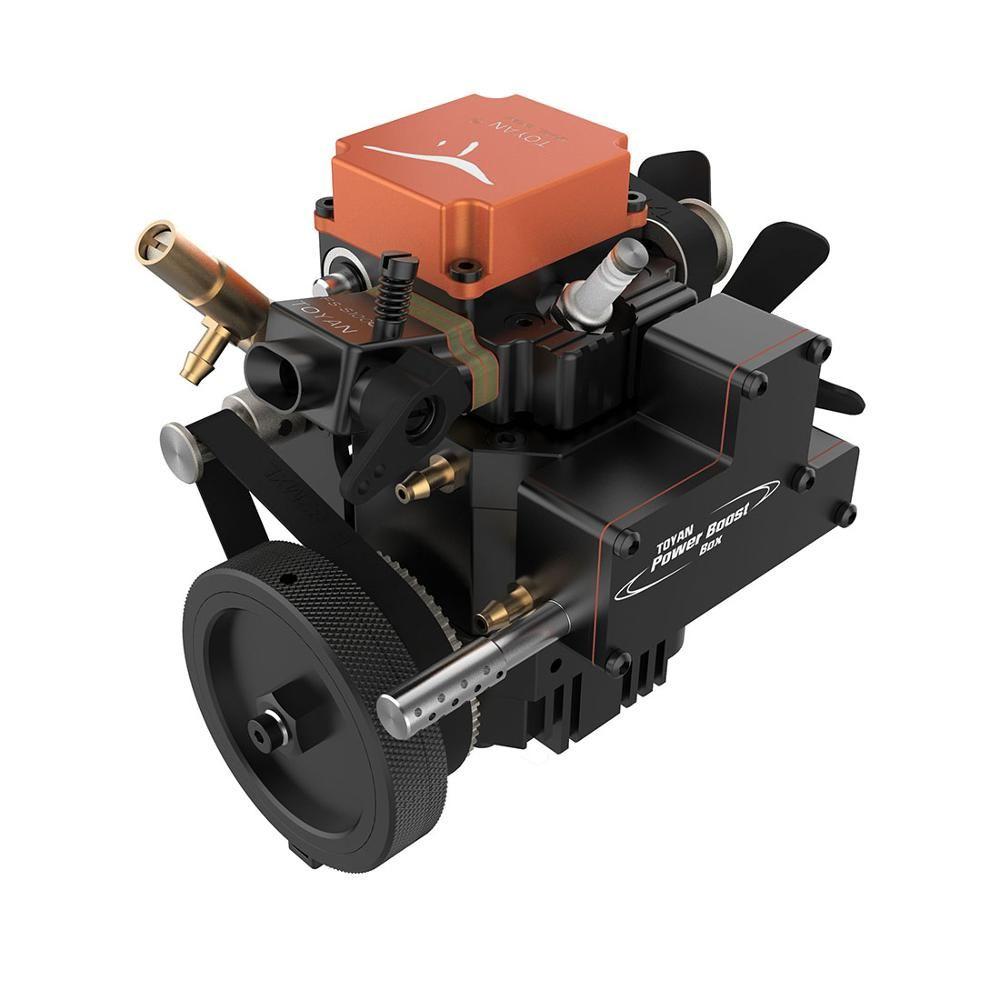 Toyan Wasser-gekühlt Viertakt Benzin Modell Motor mit Anlasser für 1:10 1:12 1:14 RC Auto Boot Flugzeug -FS-S100G (W)
