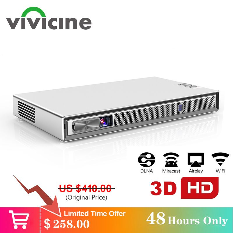 Vivicine T5 4k Mini Projektor, Android 6.0 Bluetooth 4,2, 4000mAh batterie, smart HDMI USB PC Spiel Mobile Proyector Beamer