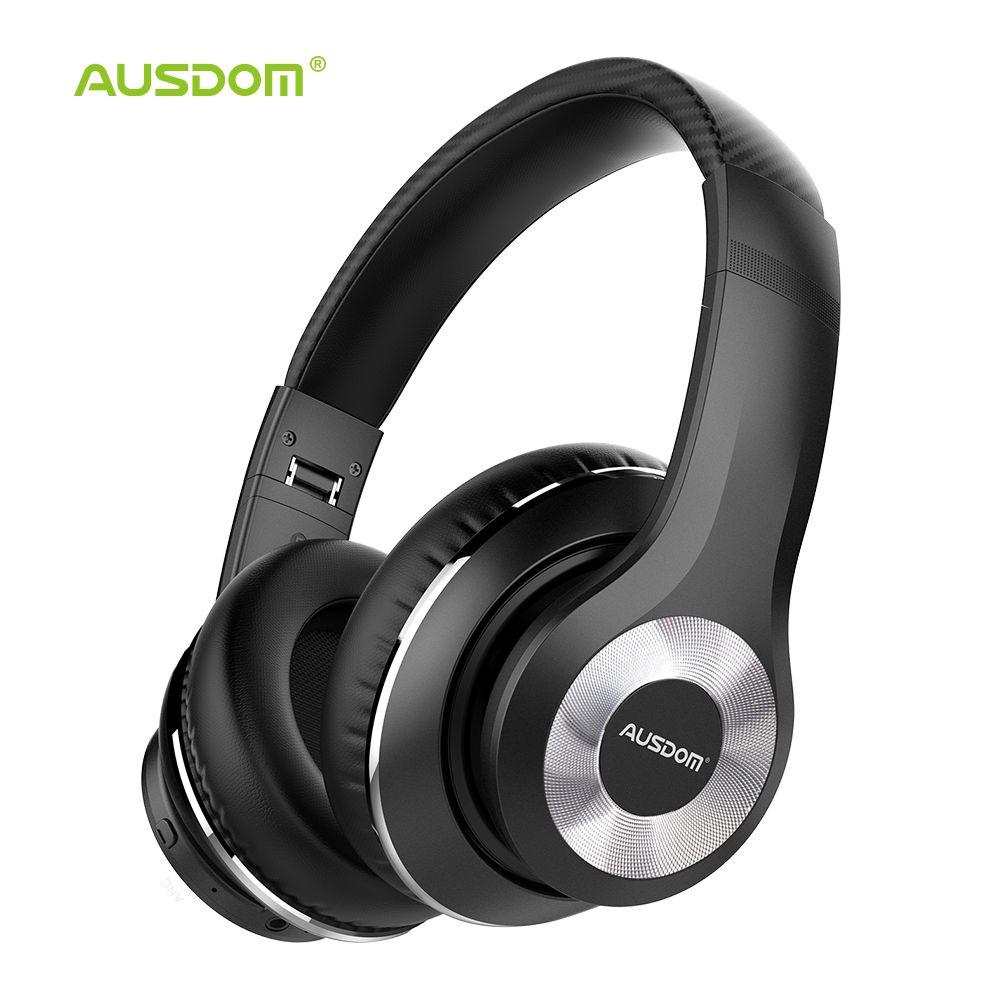 Casque sans fil Bluetooth antibruit actif Ausdom ANC10 pliable 20H temps de jeu casque Hifi basse profonde Bluetooth