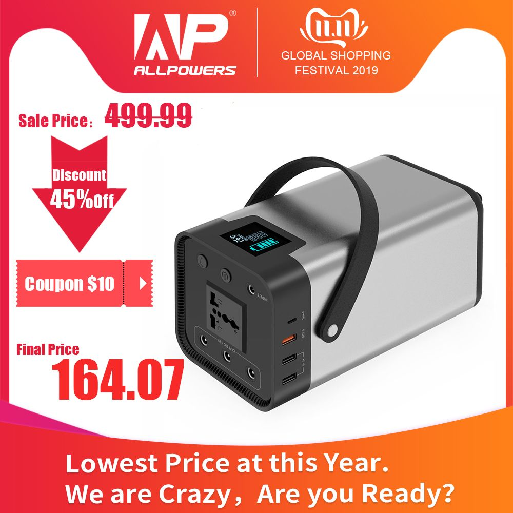 Power Bank 54000mAh Externe Batterie AC/DC/USB/Typ-C Multi-ausgang Tragbaren Generator für TV Fan Auto Kühlschrank Laptop etc.