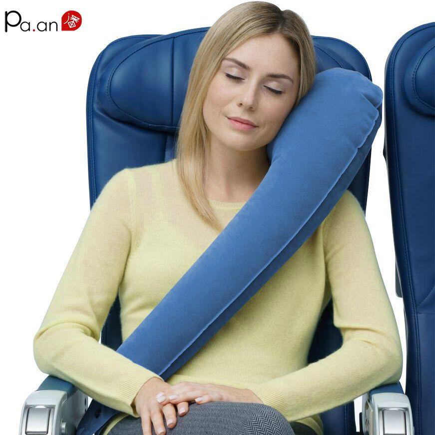 Oreiller gonflable de voyage oreiller ergonomique de voyage de cou oreiller réglable de corps d'oreiller de petit ami pour la sieste de bureau de voyage O