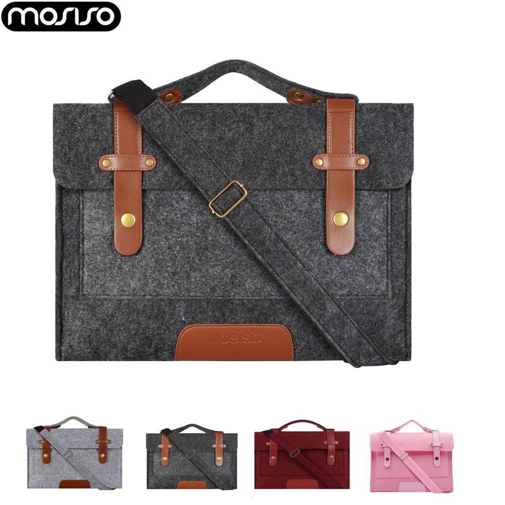 MOSISO 13 13.3 15 15.6 pouces sac pour ordinateur portable en feutre étui pour macbook serviette pour femmes Ordinateur Portable Messenger Sacs À Bandoulière pour 13 13.3 Air Pro