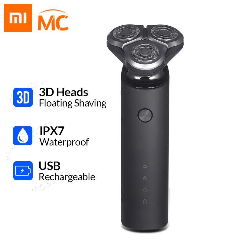 Xiaomi Mijia rasoir électrique pour hommes Rechargeable Flex rasoir 3 tête sèche humide rasage Machine tondeuse à barbe lavable double lame