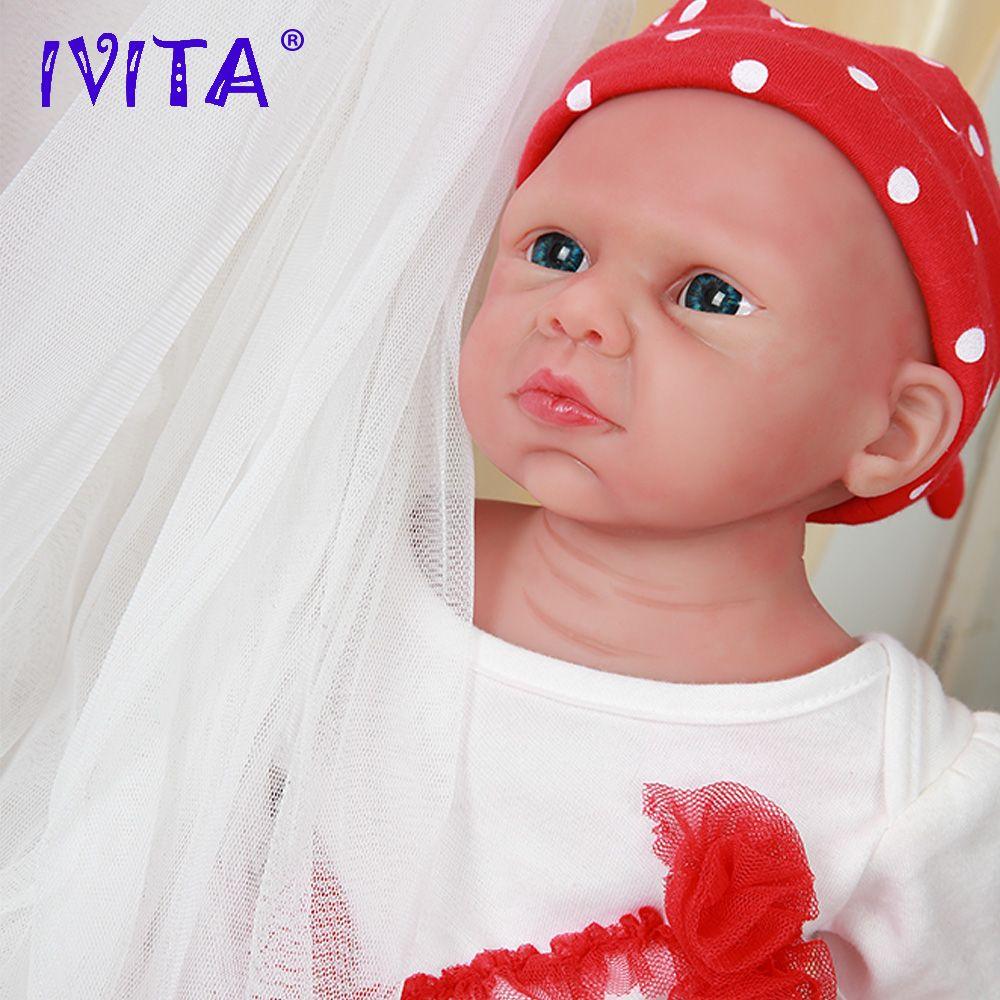IVITA WG1524 50cm (20 zoll) 3,89 kg Volle Körper Silikon Nette Reborn Baby Puppen Spielzeug für Mädchen Augen Geöffnet Lebendig Boneca mit Kleidung
