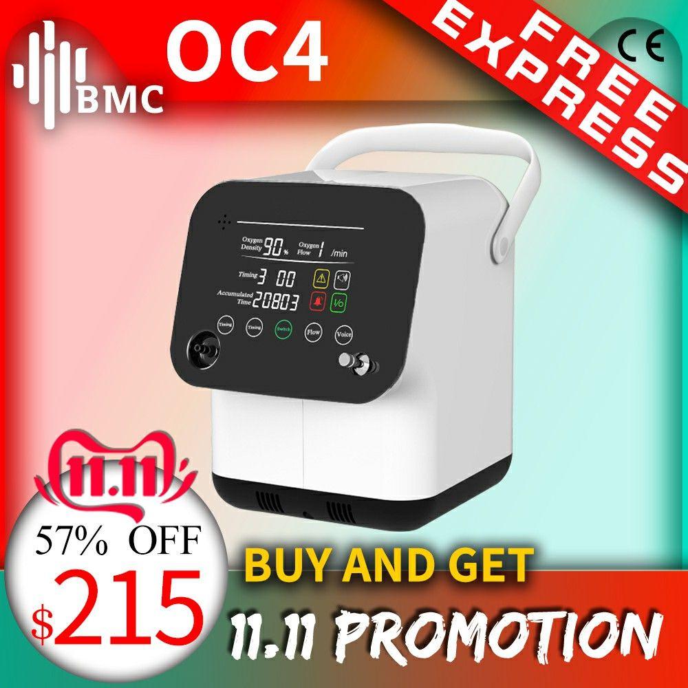 BMC Tragbare Sauerstoff Konzentrator Mini Sauerstoff Maschine 1-6L/min Einstellbar Für Schlaf Luftreiniger Haushalt Gesundheit Monitor