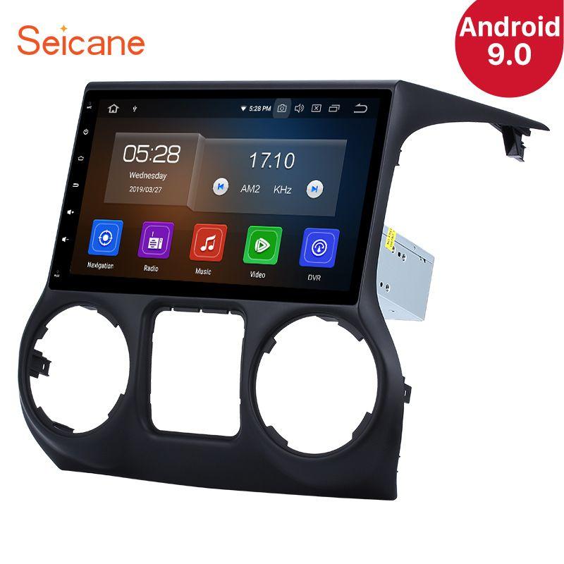 Seicane Android 9.0 10,1 Zoll IPS Auto Stereo Player Radio GPS Navi Player für 2011-2017 JEEP Wrangler mit Spiegel link SWC RDS