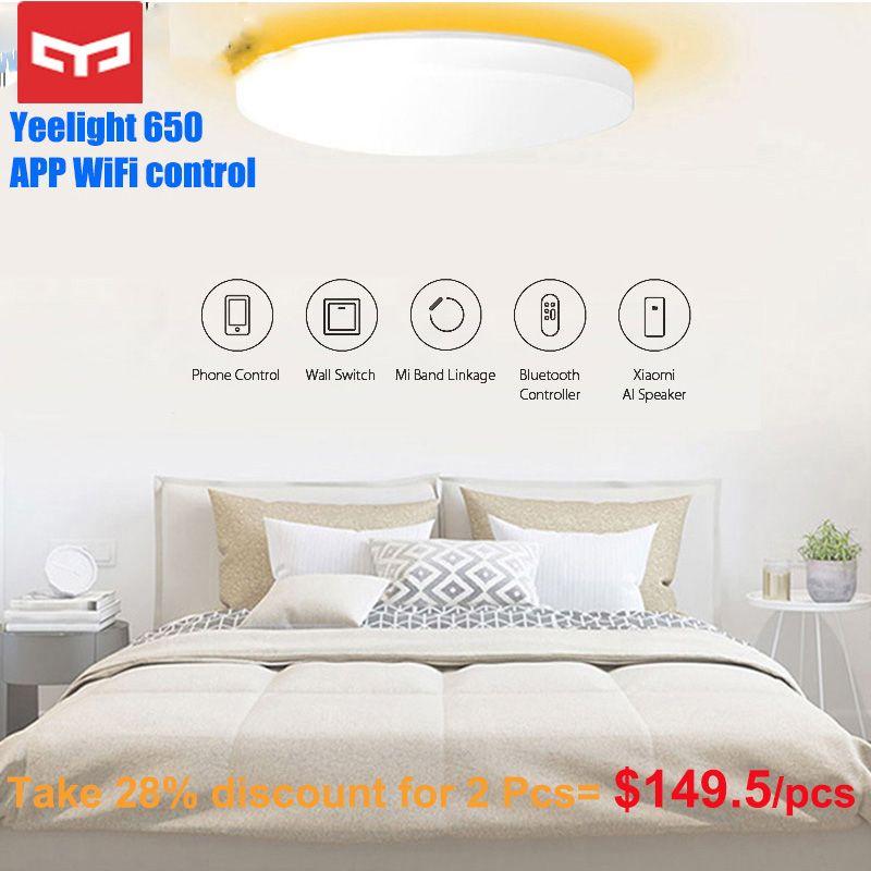 Original Yeelight JIAOYUE 650 WiFi Bluetooth APP Control Umliegenden Umgebungs Beleuchtung LED Decke Licht Smart Control 200-240V