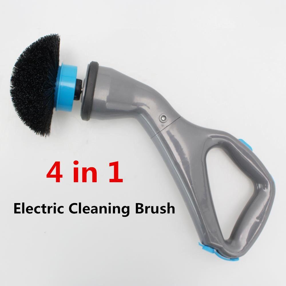 4 pièces brosse de nettoyage électrique sans fil ouragan Muscle épurateur avec têtes de brosse salle de bains Surface baignoire douche carrelage brosse