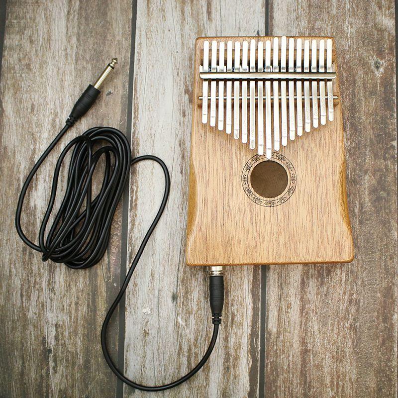 17 clés Kalimba africain pin massif acajou pouce doigt Piano Sanza Mbira Calimba jouer avec guitare bois Instruments de musique